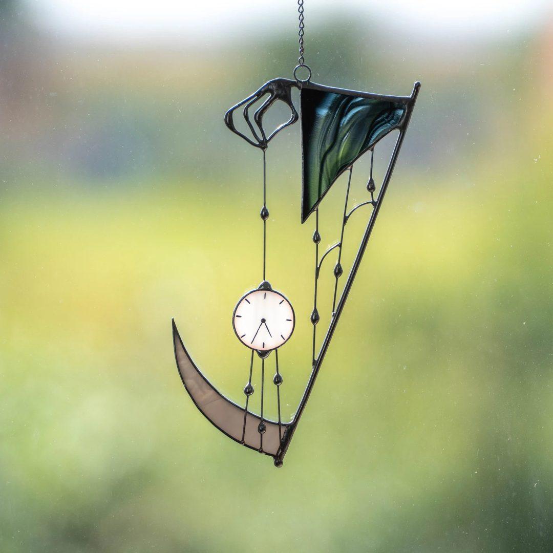 Grim Reaper Glass Suncatcher