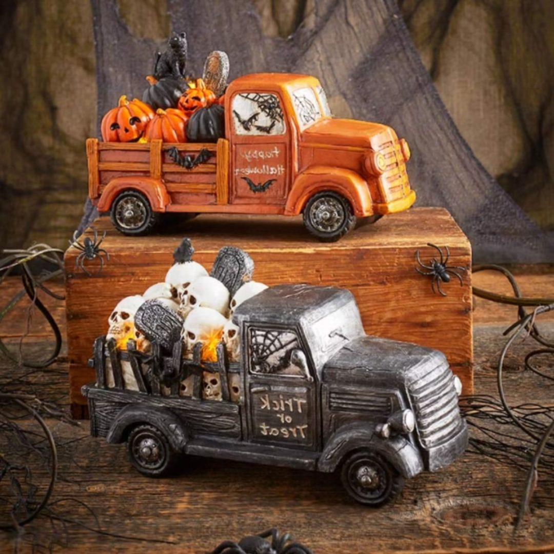 Rustic Halloween Trucks