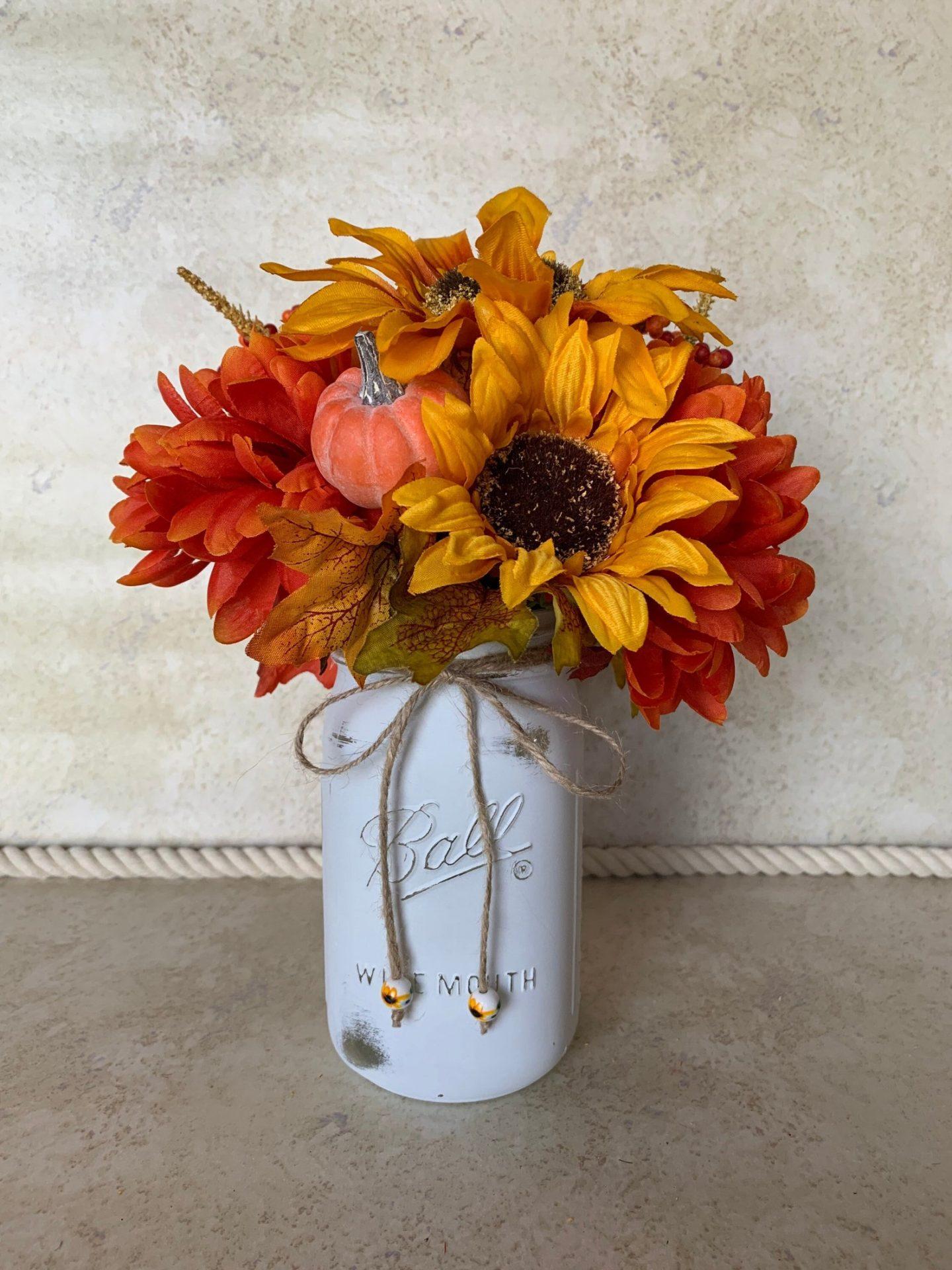 Fall Mason Jar Centerpiece Decor