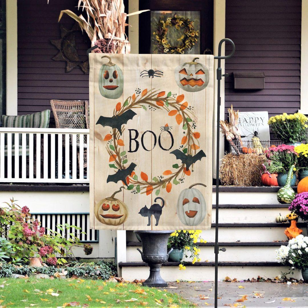 """""""Boo"""" Garden Flag"""