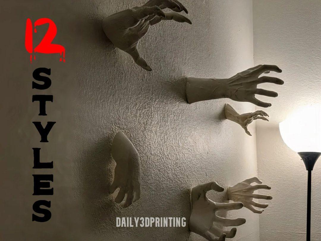 Horror Hands Wall Mount for indoor Halloween decor
