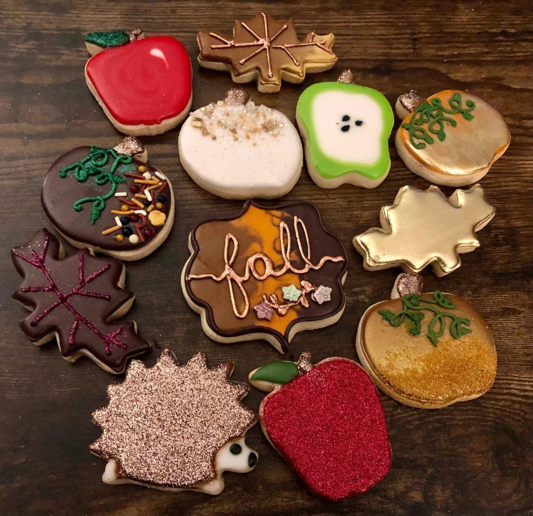 Glam Fall Sugar Cookies