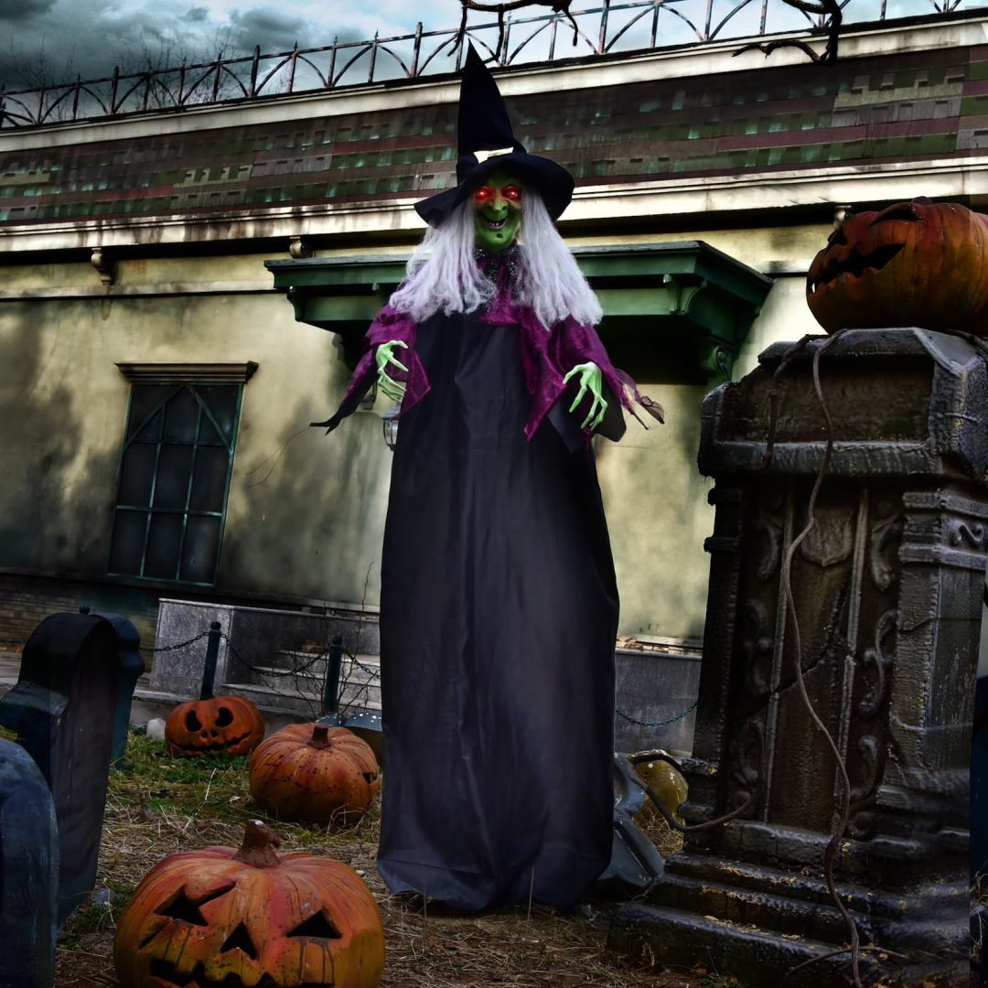 Long Hanging Witch for best outdoor Halloween decorations