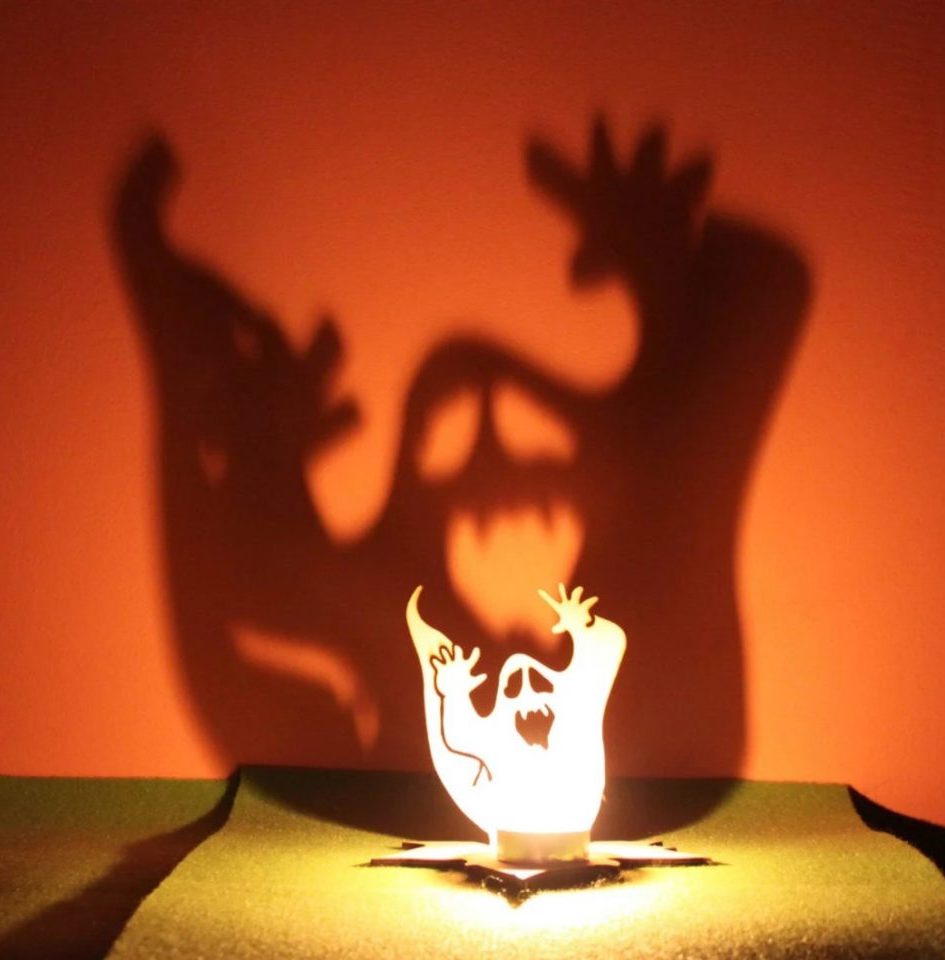 Ghost Tea Candle Holder for indoor Halloween decor