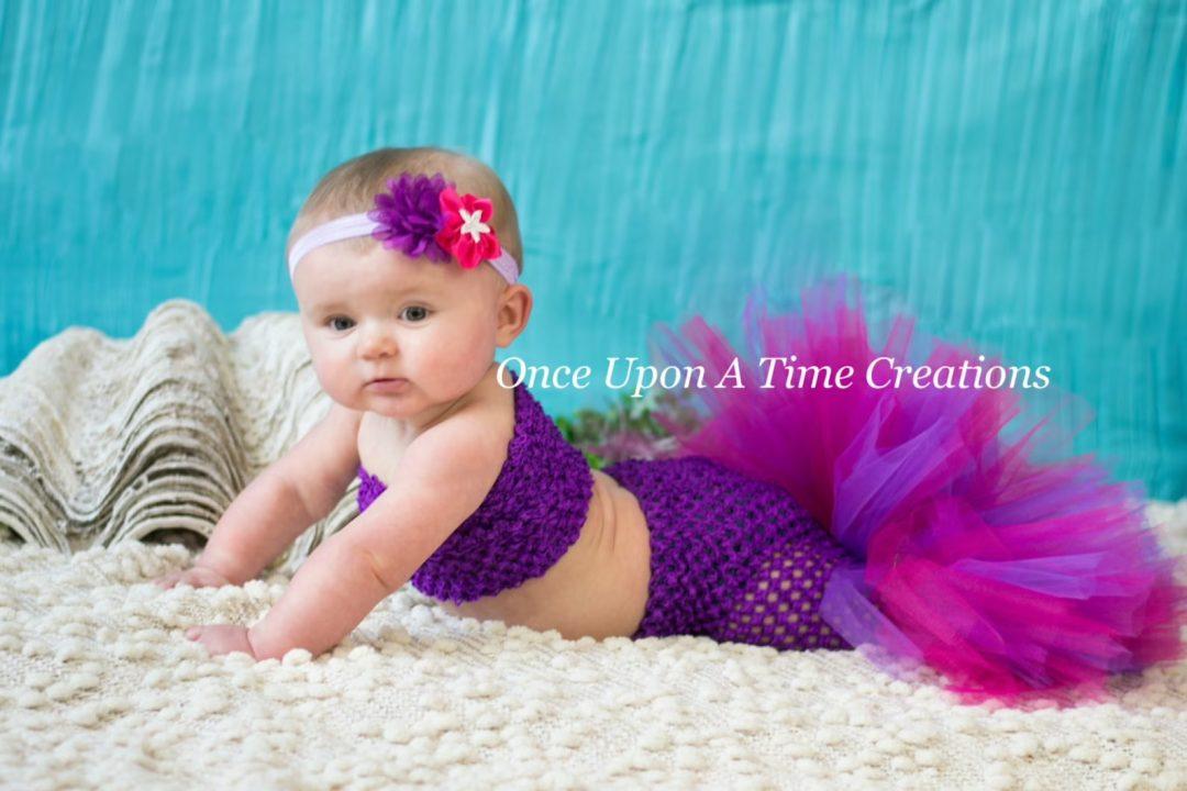 Best Newborn Halloween Costumes: Crochet baby mermaid