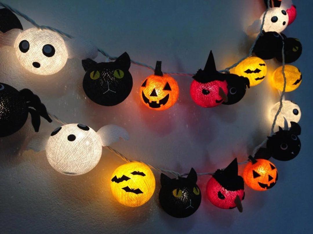 Halloween Ball String Lights for best indoor Halloween decorations