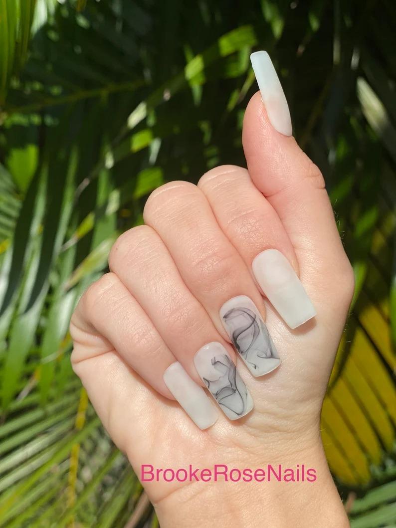Smoke square nails