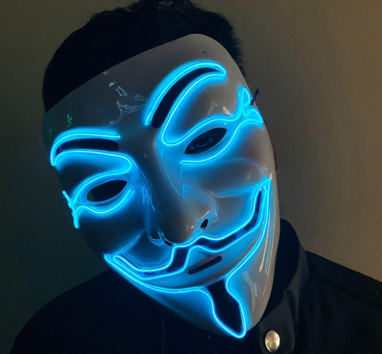 Scary The Purge Halloween LED mask