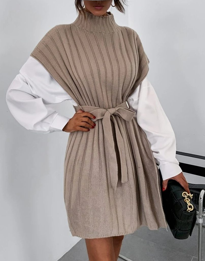 Sweater dress academia fashion