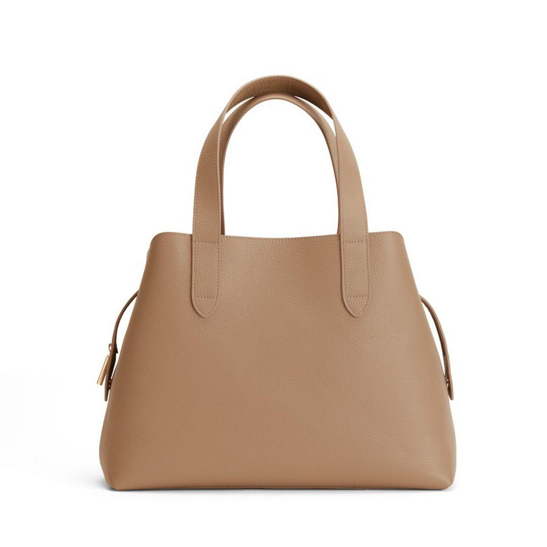 Beige brown minimalist purse