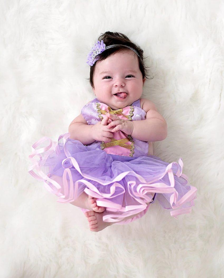 Newborn baby Rapunzel costume