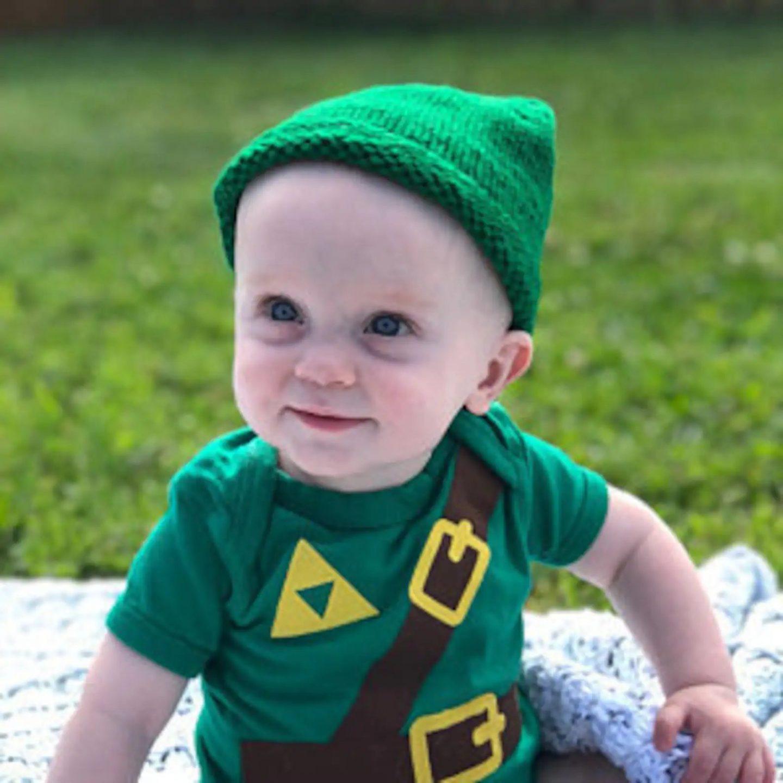Link from Zelda Halloween costume for newborns