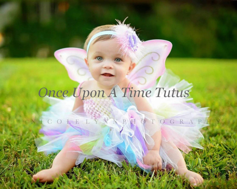 Rainbow fairy tutus for newborn girls