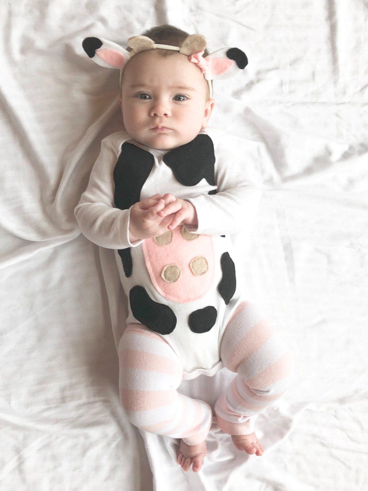 Cow Halloween costume for newborns