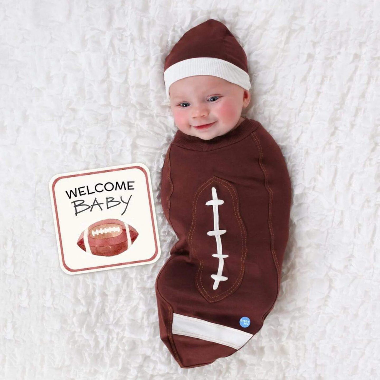 Football newborn costume for Halloween