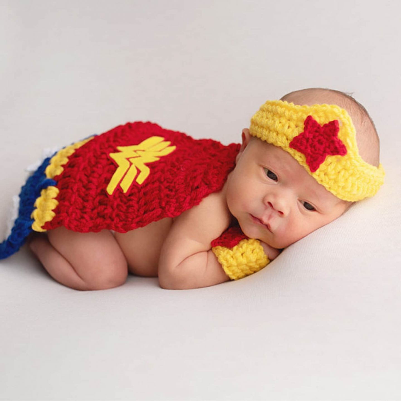 Crochet Wonder Woman costume for newborns