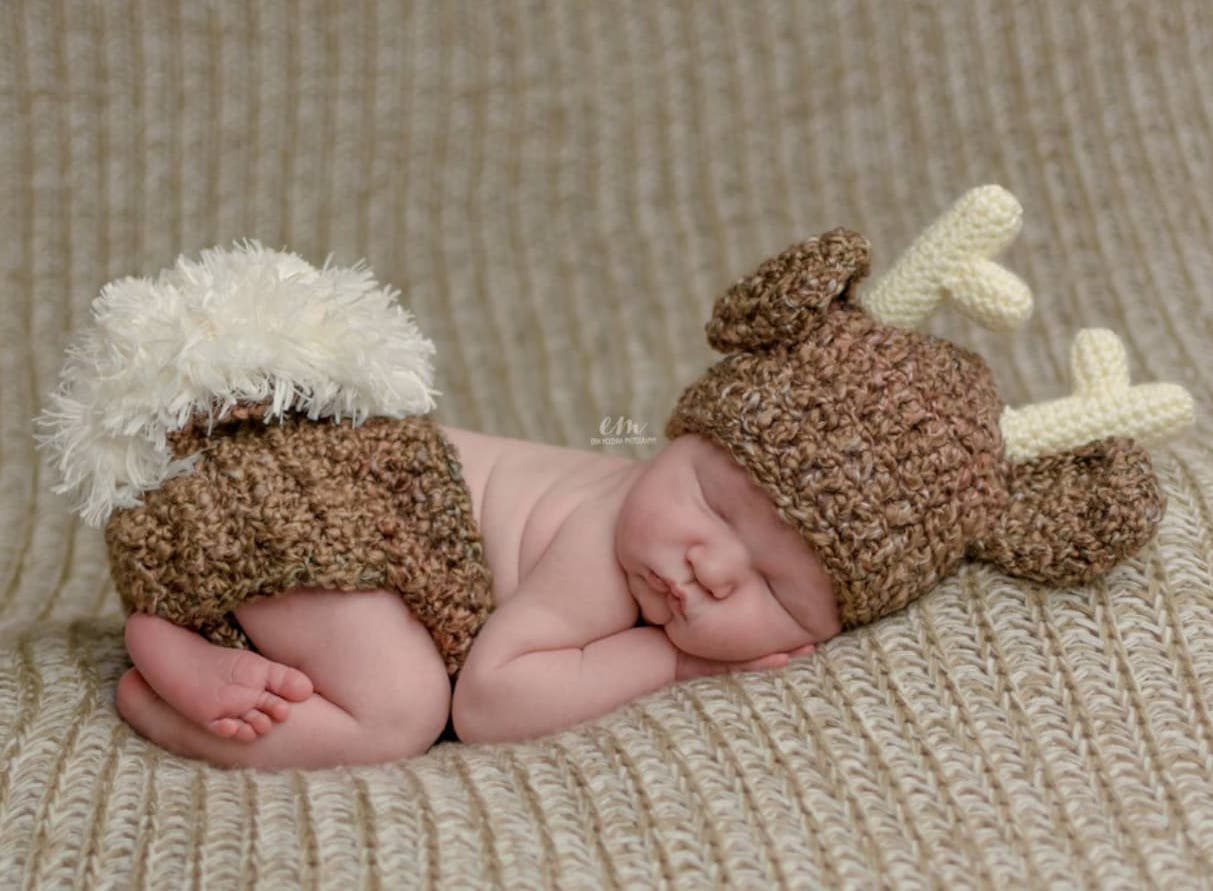 Baby deer newborn Halloween costume