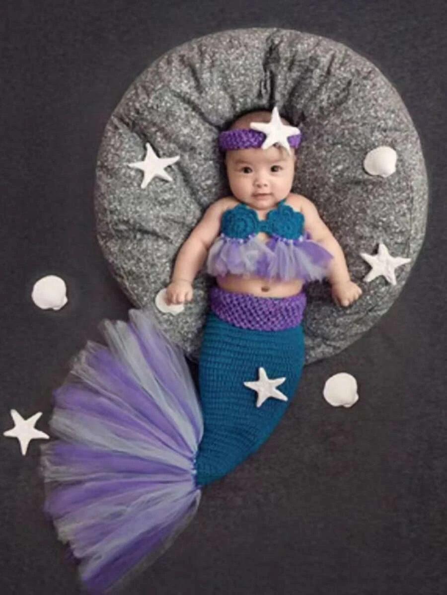 Mermaid newborn Halloween costume