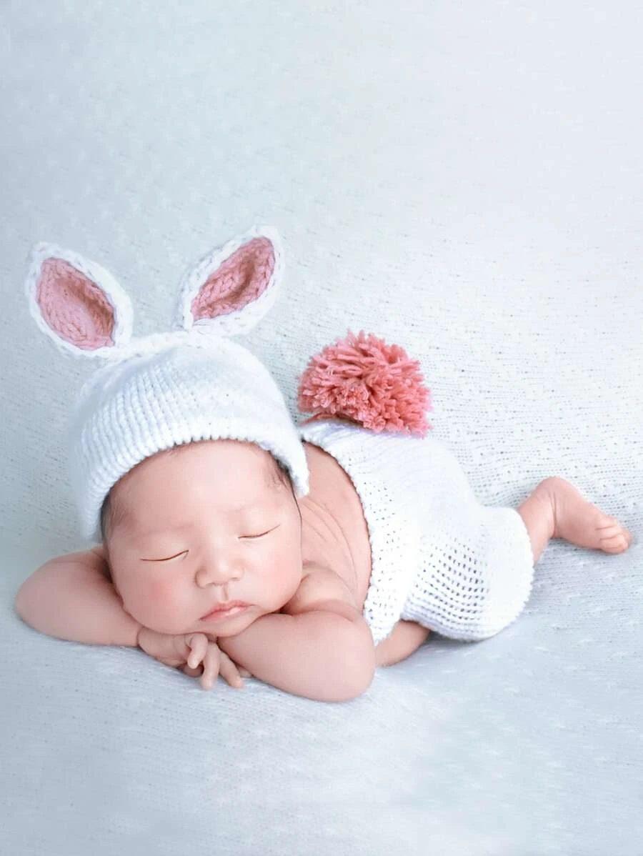 Cute white bunny Halloween costume for newborns