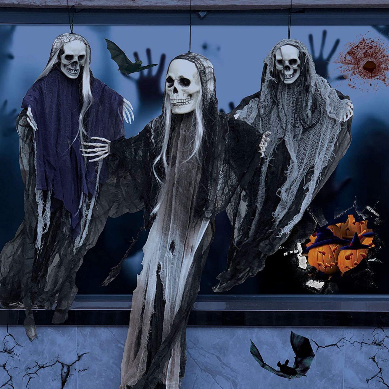 Skeleton Ghosts Outdoor Halloween decor