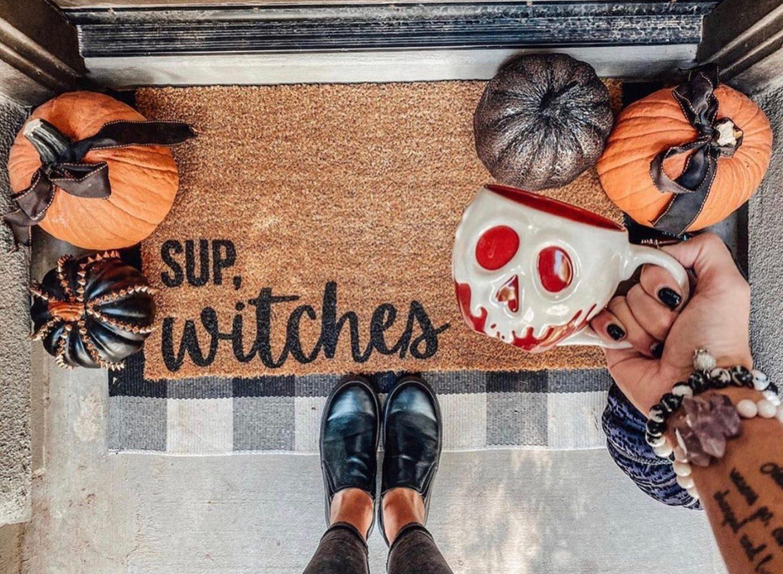 Sup, Witches Halloween Doormat