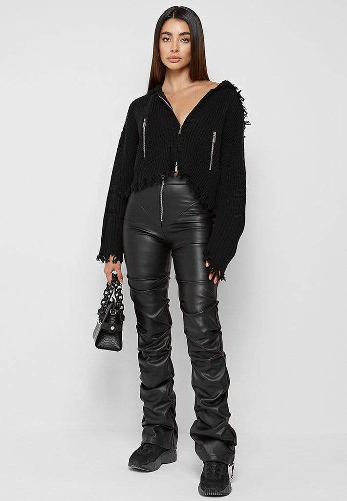 Cool and edgy outfit with hoodie
