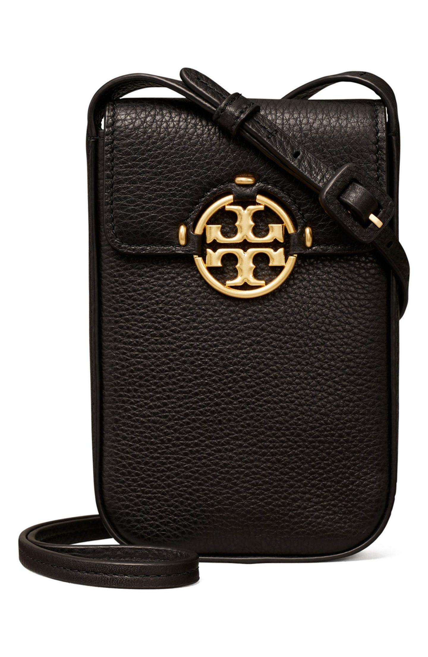 Black Tory Burch Phone bag for best minimalist purses