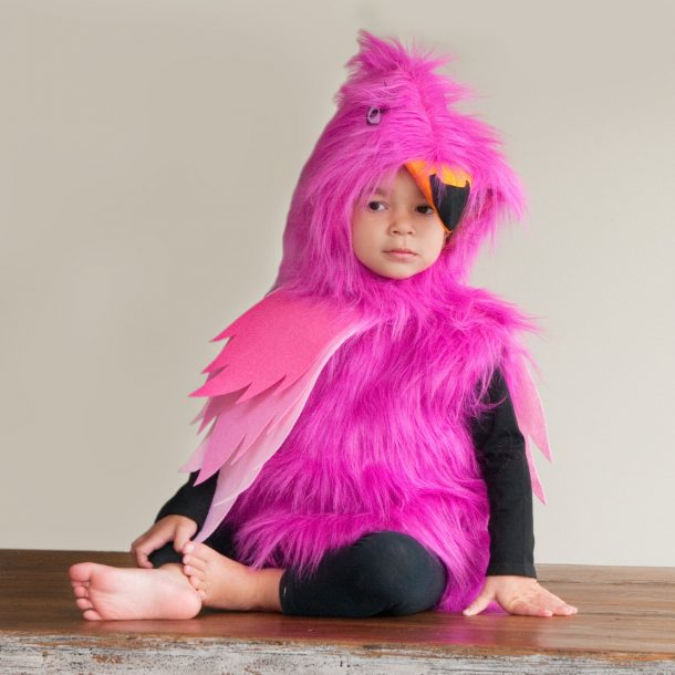 Pink flamingo Halloween costume for toddlers