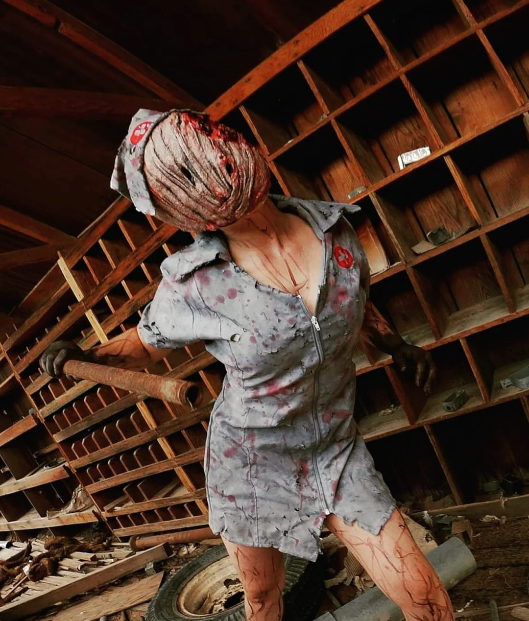Scary bloody nurse Halloween costume for women