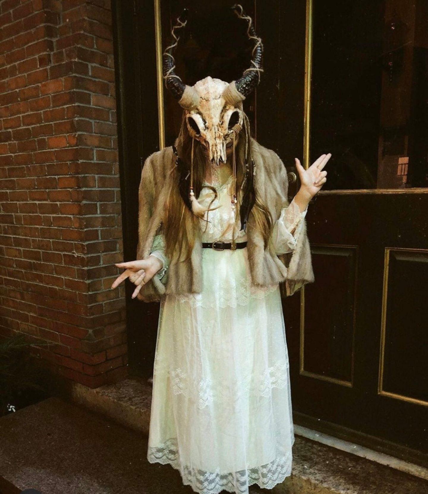 Scary pagan shaman Halloween costume for women