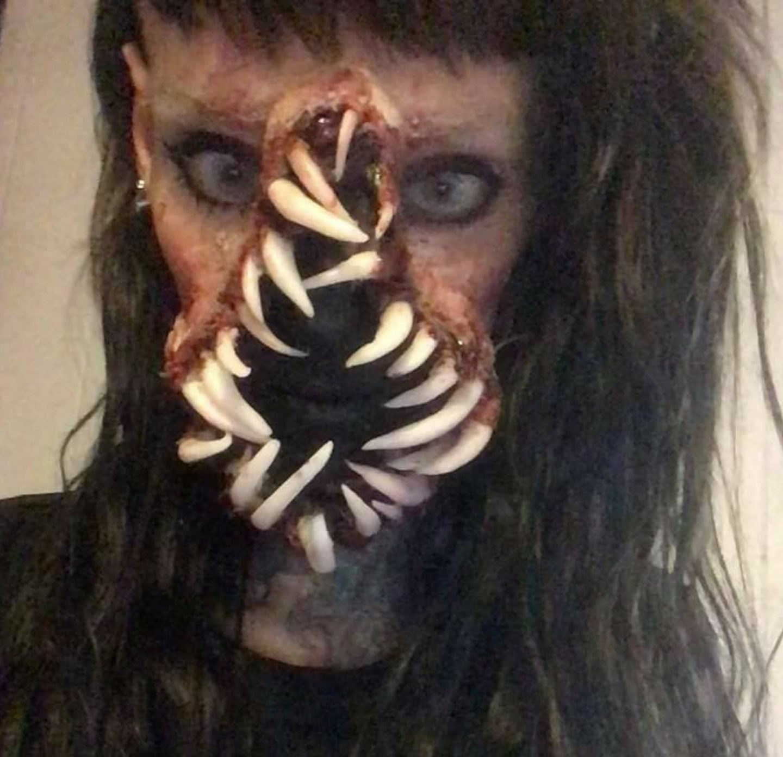 Scary Monster Face Halloween costume for women