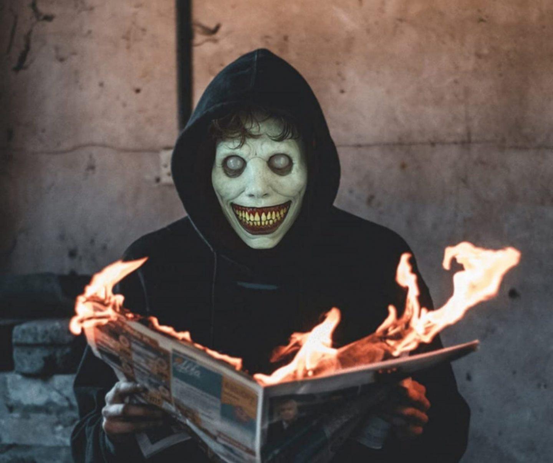 Creepy Halloween mask for women