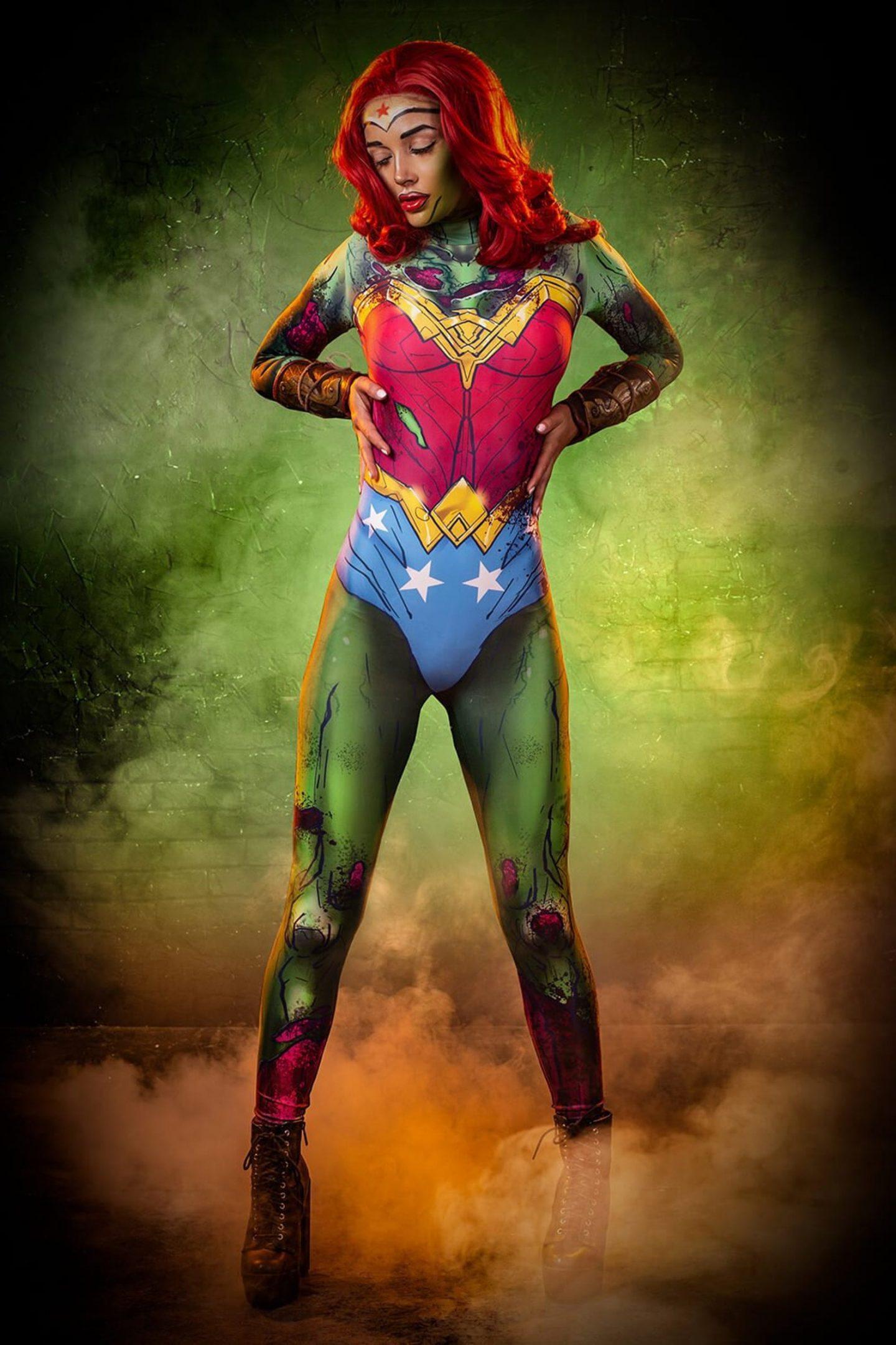 Zombie Wonder Woman Halloween costume for women