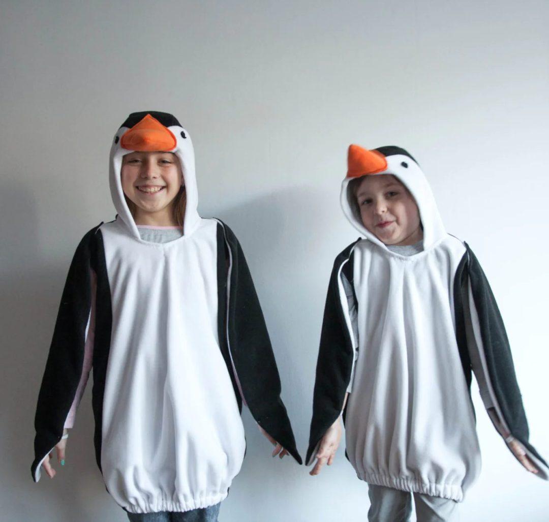 Penguin sibling Halloween costume for boys