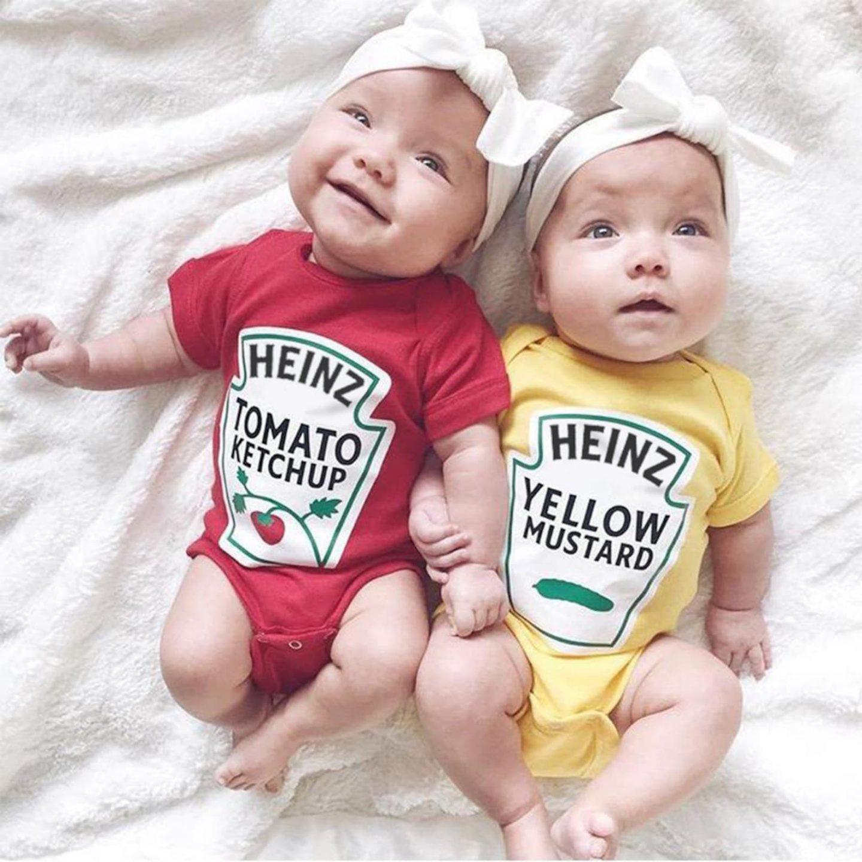 Ketchup & Mustard Halloween costume for siblings