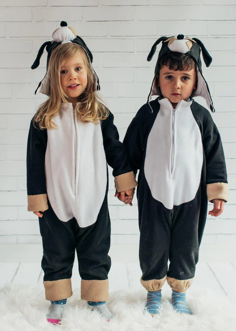 Bernese Mountain Dog Halloween costumes for twins