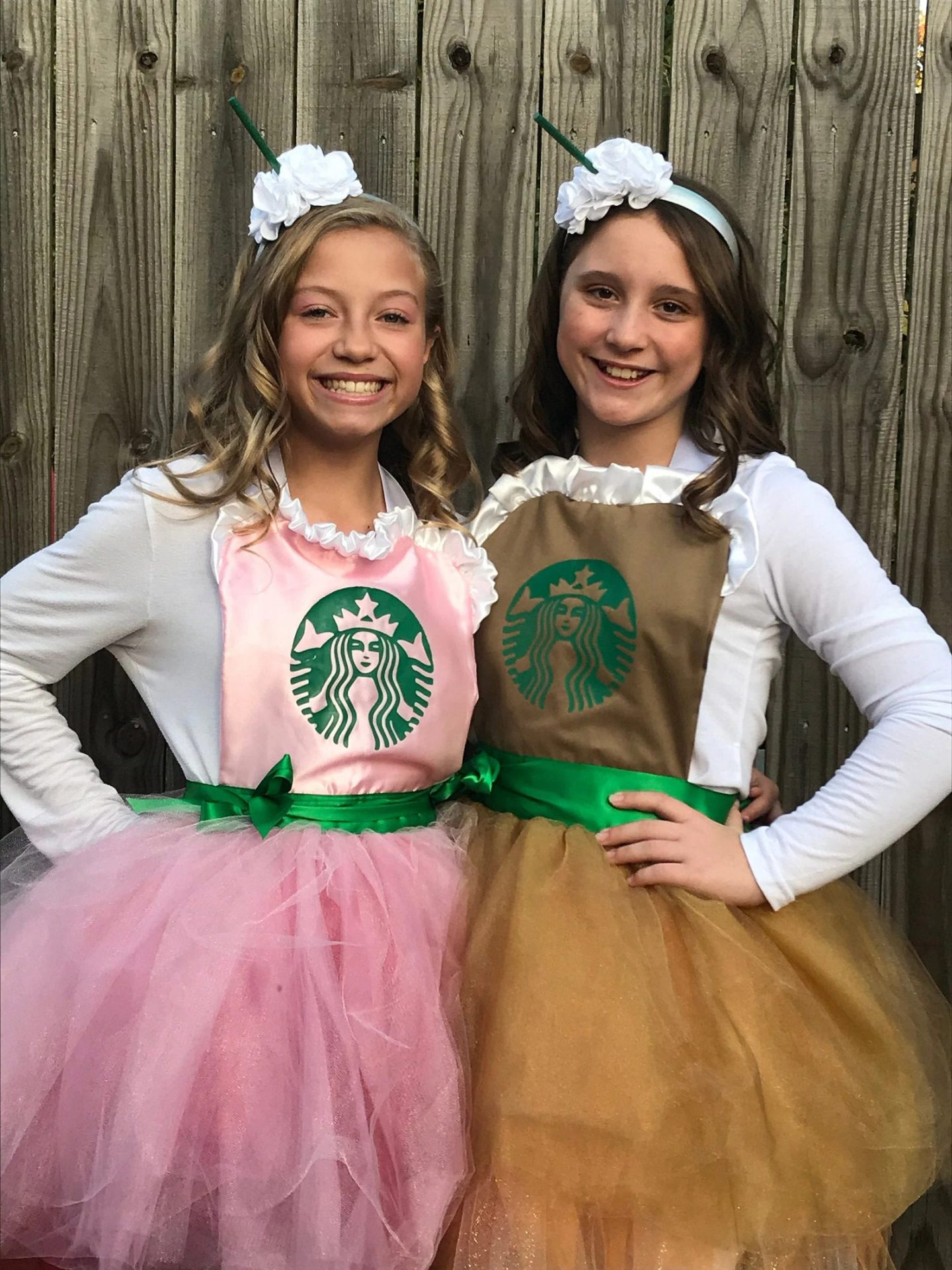 Cute matching Starbucks Halloween costumes for girls