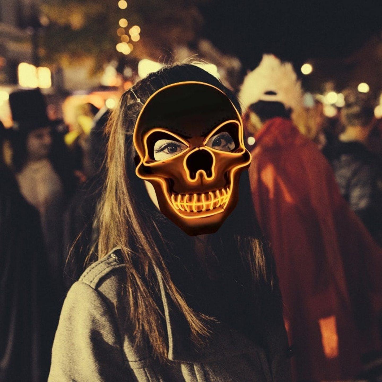 Cute LED skull mask for Halloween
