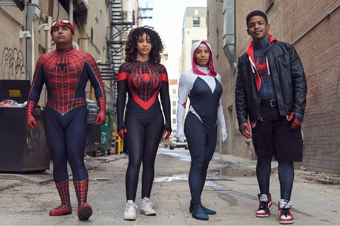 Into the spider verse spiderman costume for 4