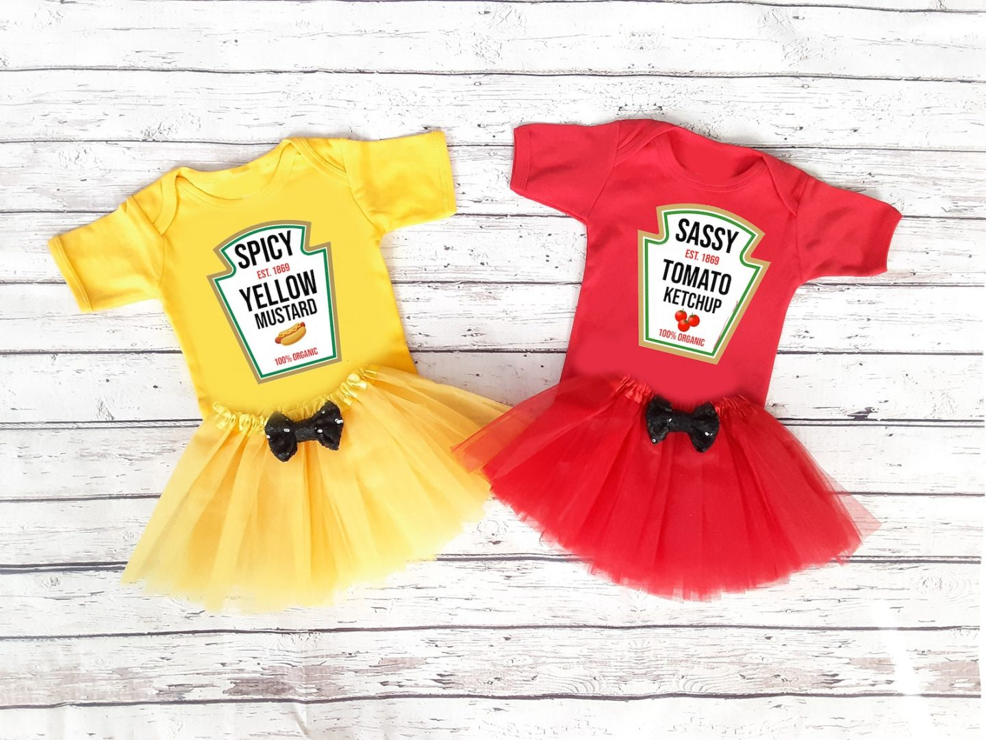 Ketchup and mustard Halloween costume for kids