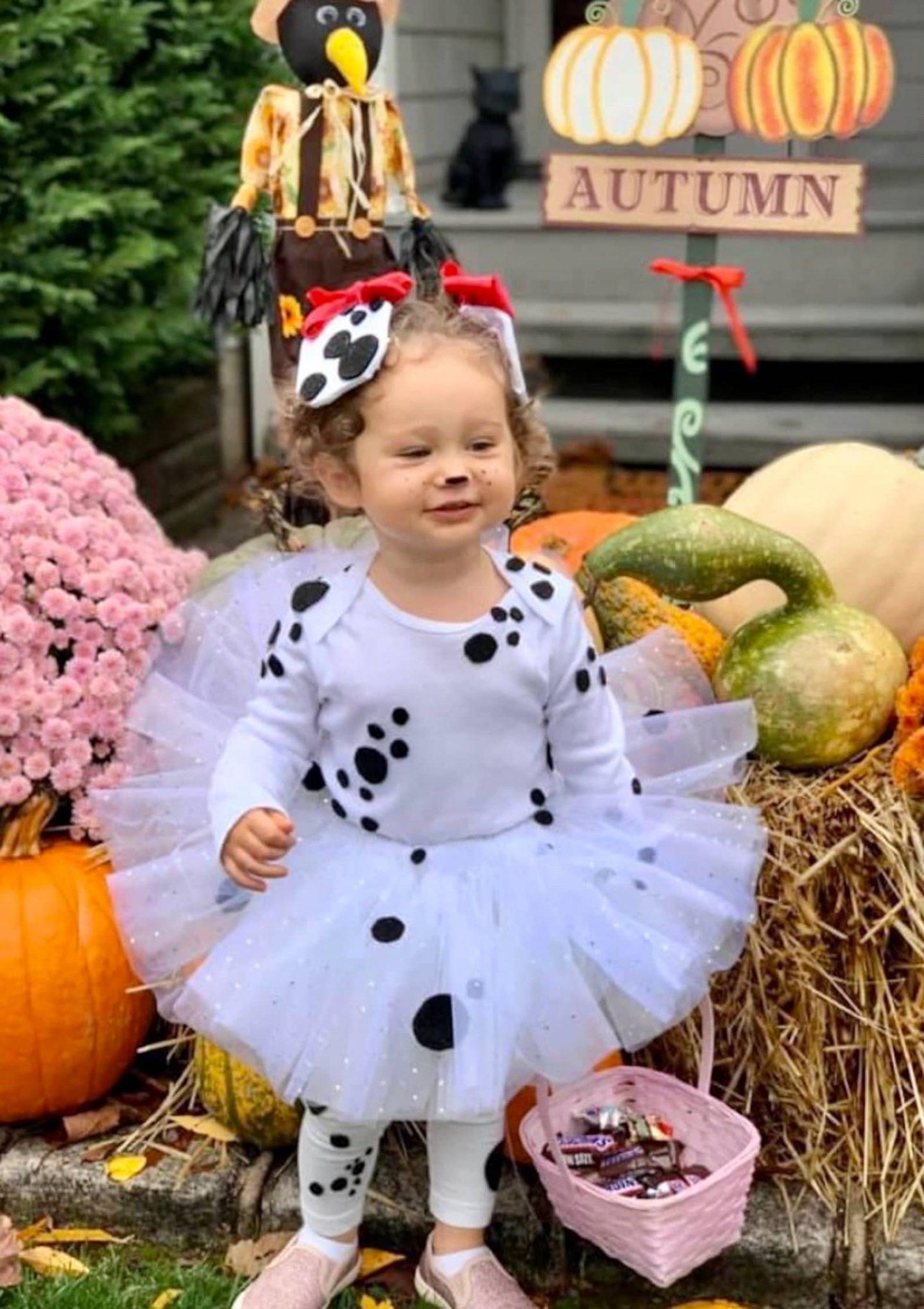 Dalmatian toddler Halloween costume