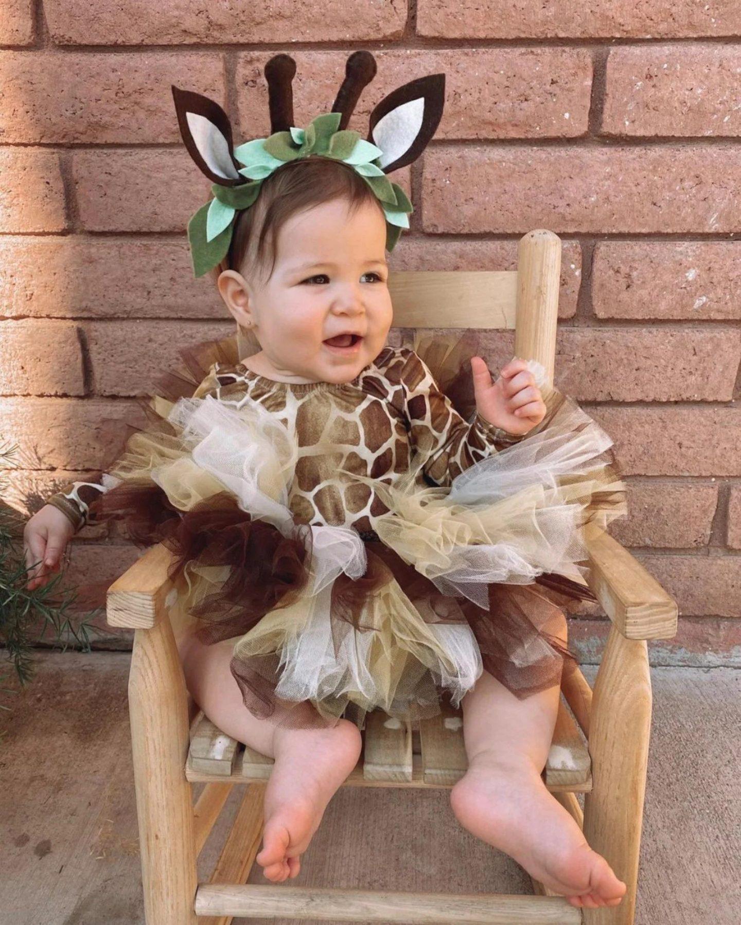 Baby giraffe Halloween costume for toddler