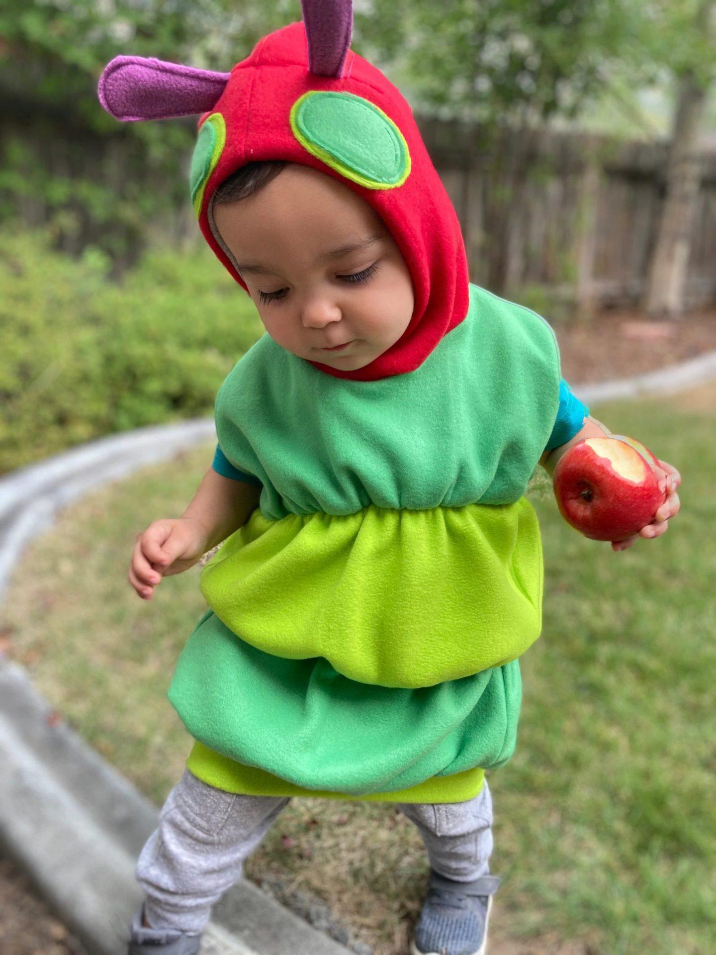 Caterpillar Halloween costume for babies