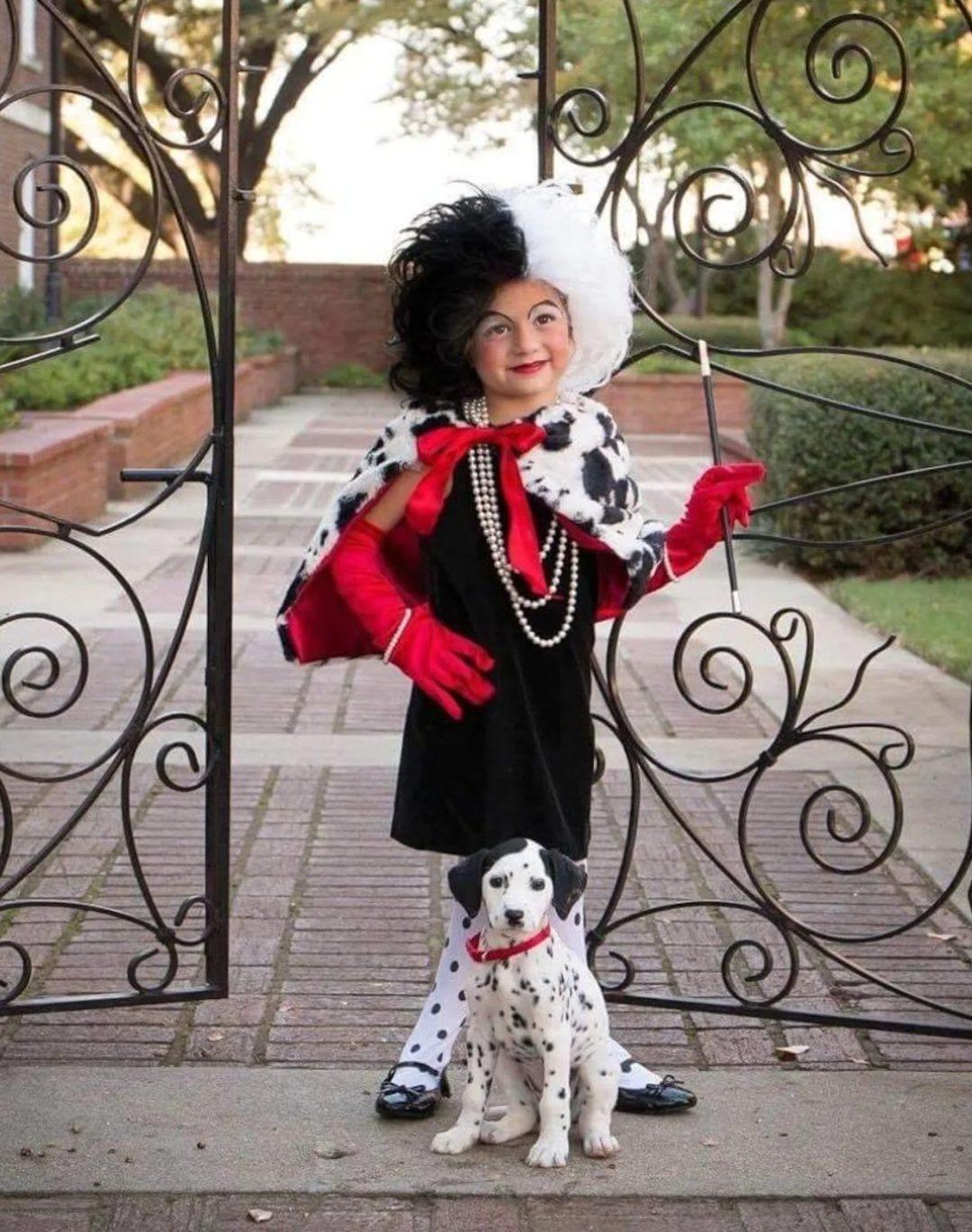 Cruella De Vil toddler Halloween costume