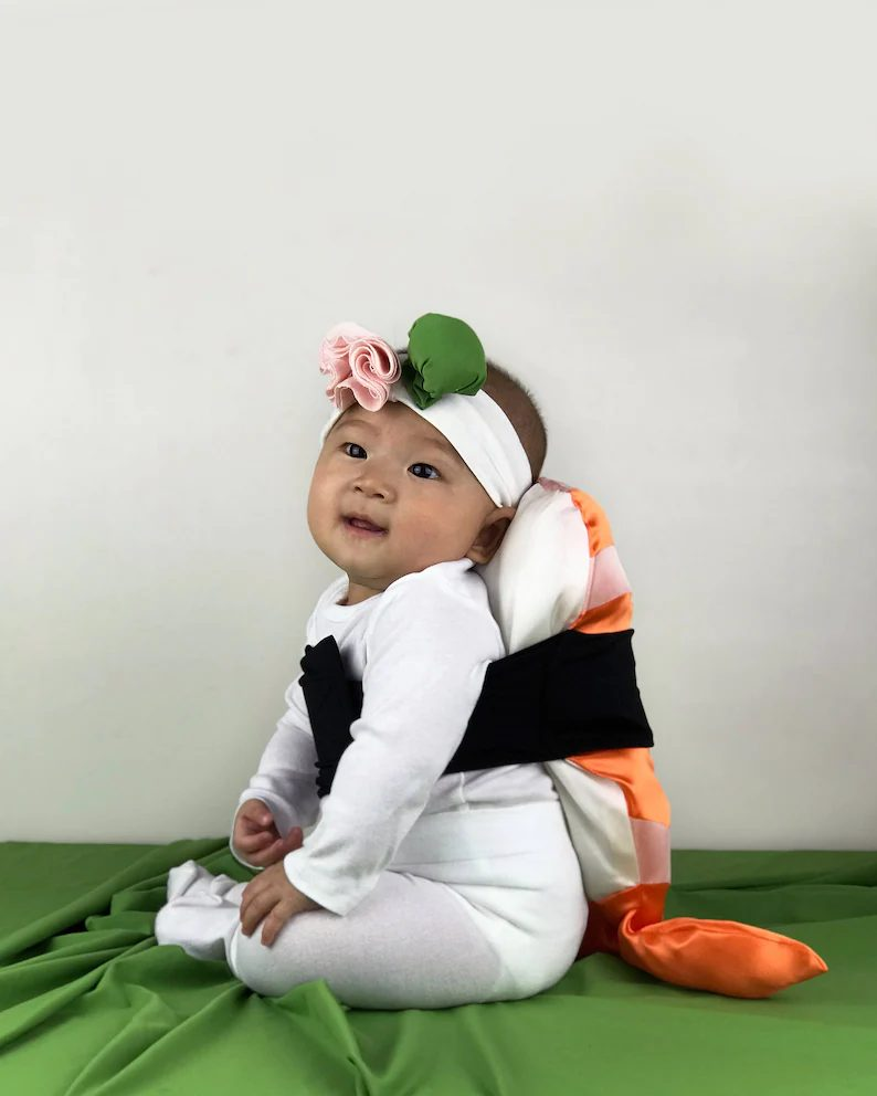 Baby shrimp sushi for Toddler Halloween Costumes