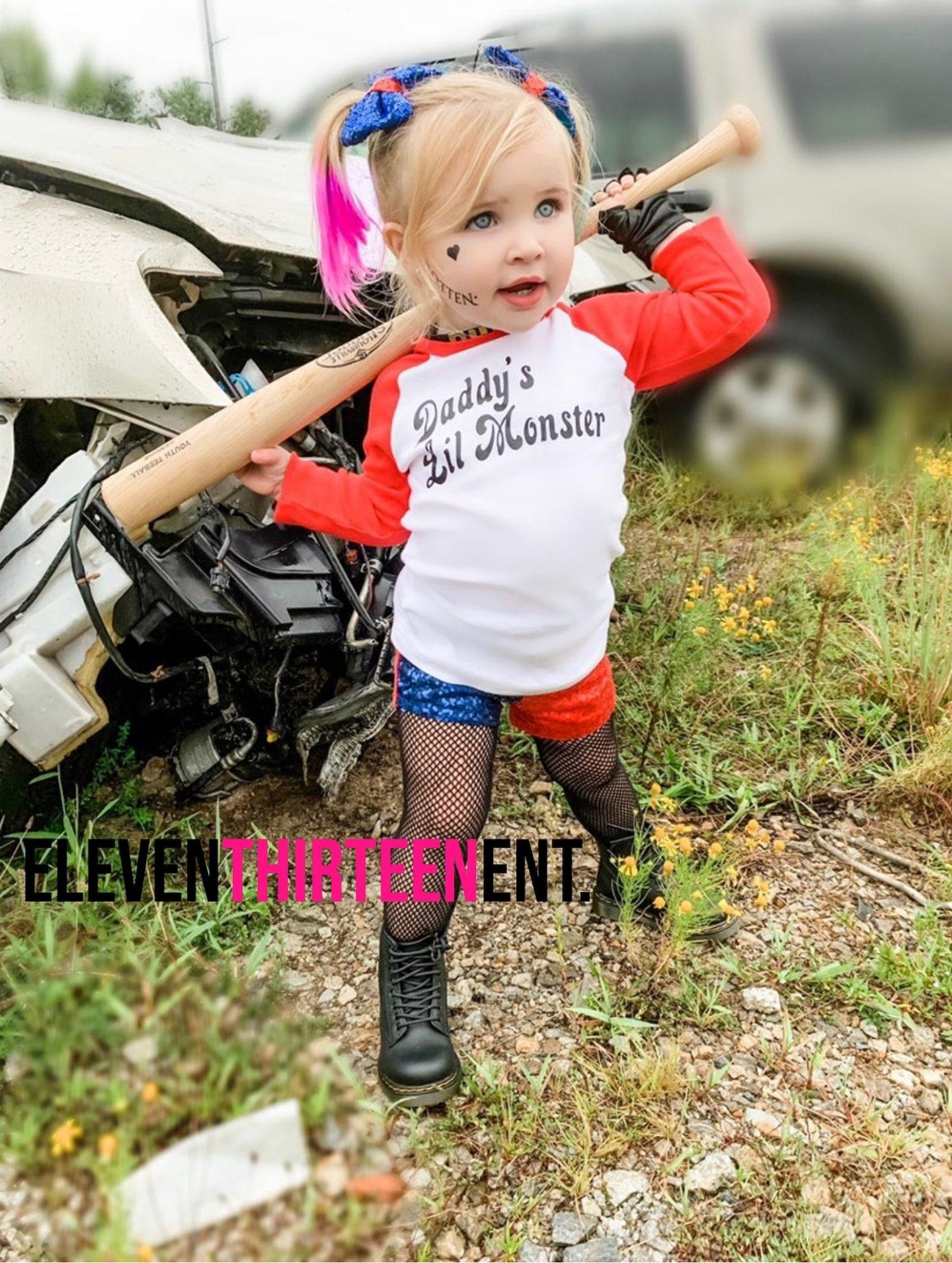 Harley Quinn toddler costume for Halloween