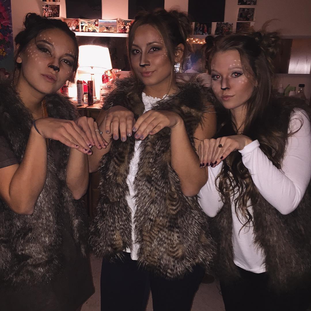 Deer Halloween costume for 3