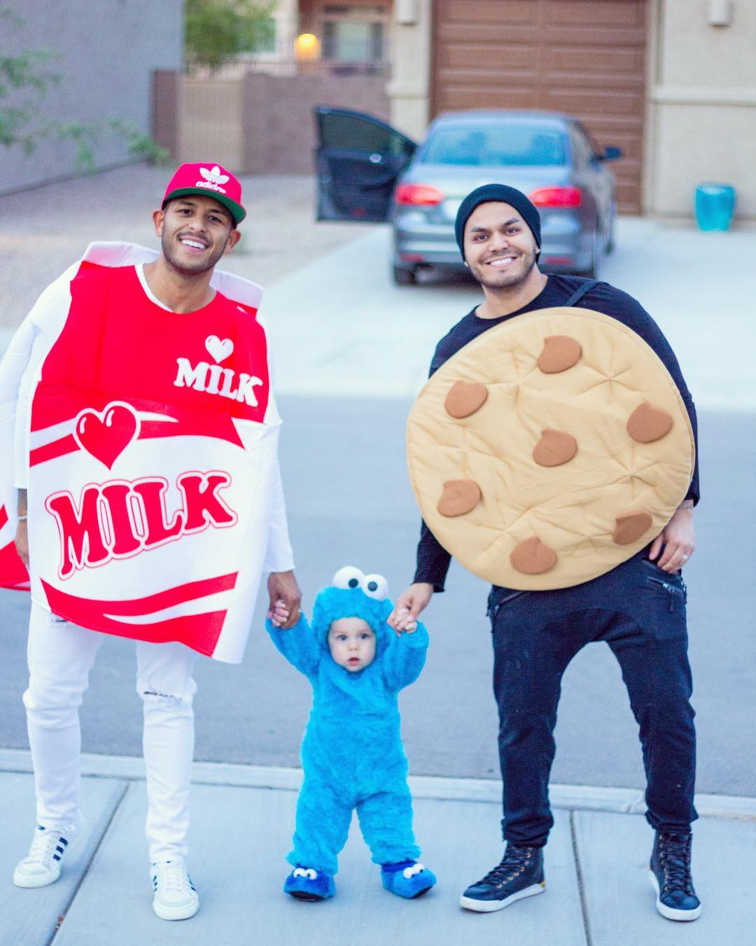 Milk, cookies and cookie monster trio Halloween costume for family