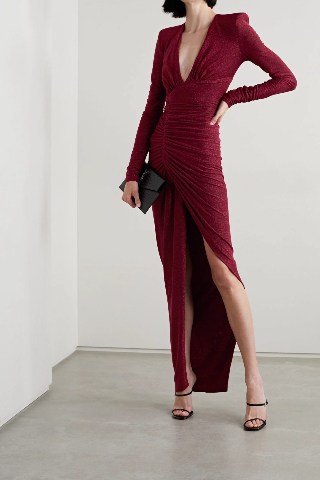 What To Wear At A Masquerade Party: Deep red evening gown designer