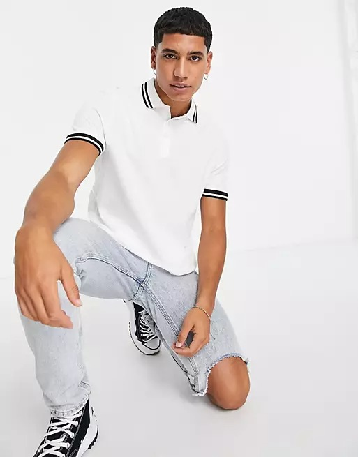 White polo for casual dinner date